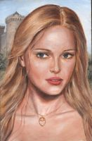 Blonde Woman and Castles by dashinvaine