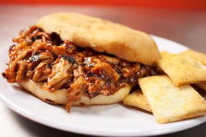 Pulled Chicken BBQ Sandwich by Lefay23