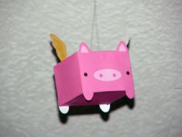 Flying Pig Papercraft by RubberDuckyDestiny
