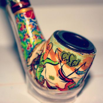 Persian Pipe. handpainted. by MMusawi
