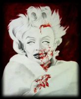 Zombie Marilyn Monroe by SarahEleanor