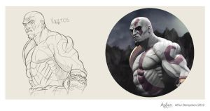 Kratos illustration scetch by snikers15