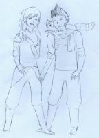 Mako and Korra Laughing by ZacharyWolf