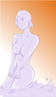 purple slime girl by ibenz009