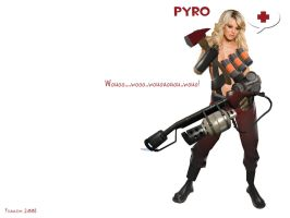 Team fortress 2 pyro by iFrau
