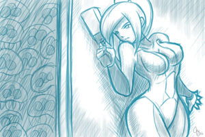 Sketch: Danger's Lurking... by Claymore32