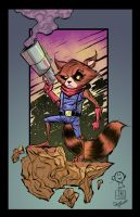 Rocket Racoon colors by Memo Regalado by V3dd3rMan