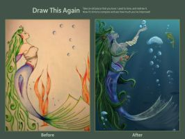 Draw This Again - Mermaid's Longing by Adrolien
