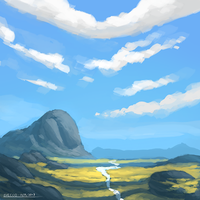 Quick Landscape 01 (Detailed) by ehecod
