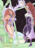 Starfire And Blackfire 1 by andrewr255