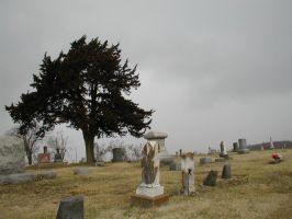 Graveyard Cloudy Day 2 by DarkMaiden-Stock