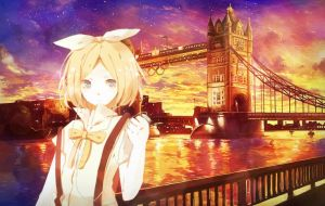 Morning in Great Britain - Kagamine Rin by 34Kai