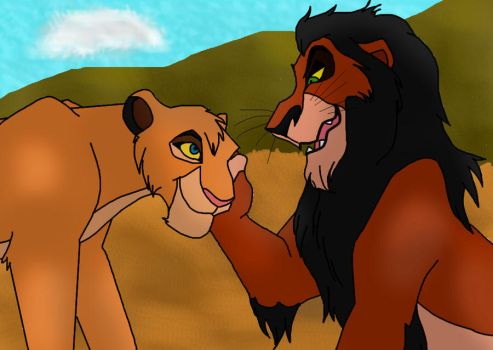 Scar and Vitani's mother by Animals369