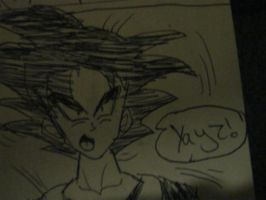 Goku says yayz by CrazyCousins
