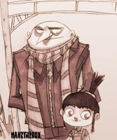 Gru and Agnes- Sketch by hanzthebox