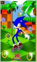 Sonic in Green Hill by princesayuuki