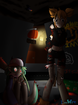 Hanging Out in an Alley(Bloody Version) by LiveWireGoth