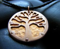 Copper Tree Necklace by MoonLitCreations