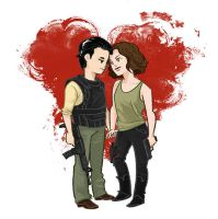 Glenn and Maggie by beanclam