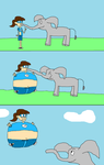 An Elephant inflated Toongirl by Toongirl18