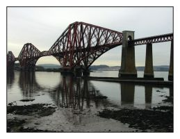 Forth Rail Bridge Reflections by sicklittlemonkey