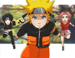 Naruto: Rush colored by Nishi06