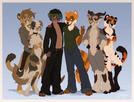 Anthro Group by SkyLeaf6667