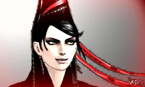 Bayonetta-pose-2-(on-XPS-and-photoshop) by DavidGameman