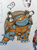 Michelangelo the blastoise by grizlyjerr