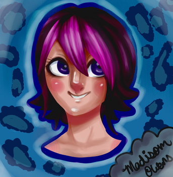 a girl with purple hair :? by toby123zombie