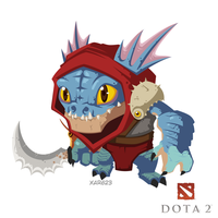 dota 2 fan art 'Slark' by XaR623