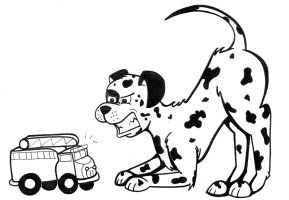 Dalmation Vs Firetruck by JediPinkiePie