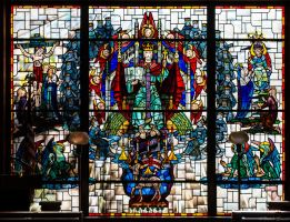 Woodland Cemetary Mausoleum Stained Glass 3 by PLutonius