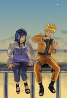 Naruto and Hinata by umbriano