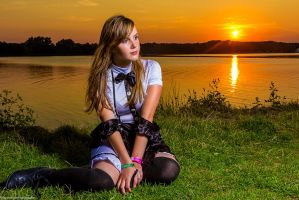 French maid at the sunset by vincentleefotografie