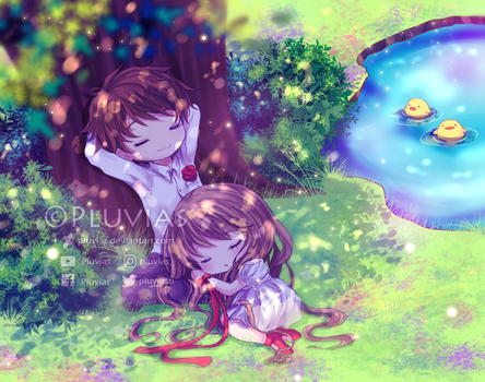 Relaxing in Nature by Pluvias