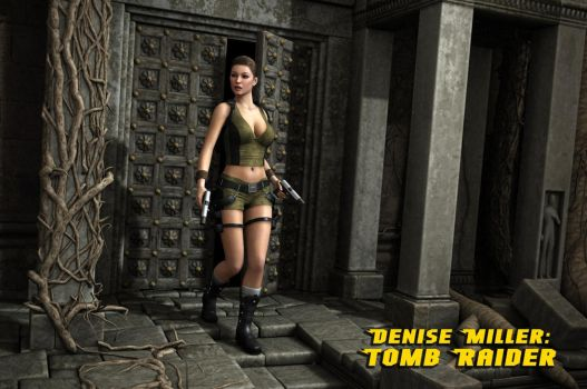 Denise as Tomb Raider by Torqual3D by Curia-DD