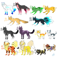 Variety Pnt. Adoptables CLOSED by TechnicolorDog