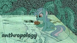 MLP Wallpaper Lyra anthropology by PrivateScoop