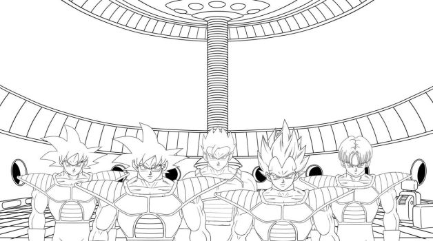 A story about a new universe in DBM (lineart) by TAIVAN