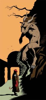 Hellboy and the Demon by sturstein