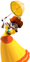 Daisy edited with her parasol by OrangePrincessDaisy