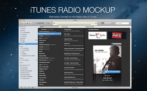 iTunes Radio View Mockup by B4lth4s4R