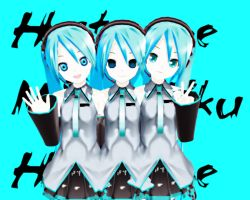 MMD Family of Miku by Ilovedrawin