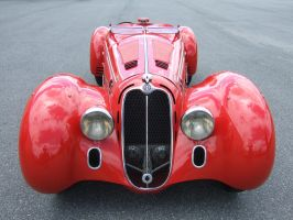1938 Alfa-Romeo 8C 2900MM Front view by Aya-Wavedancer