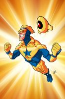 Booster Gold and Skeets by drawerofdrawings
