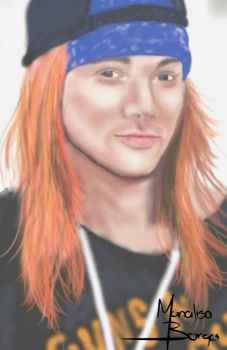 My first digital painting\drawing (Axl Rose) by MonalisaBorges