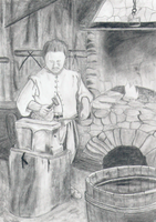 Jamestown Blacksmith by GleamingPinkStarlite
