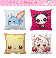 Kawaii American Mojo square pillows by tho-be
