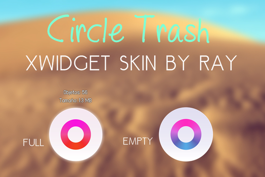 Circle Trash XWidget Skin by Ray by Raiiy